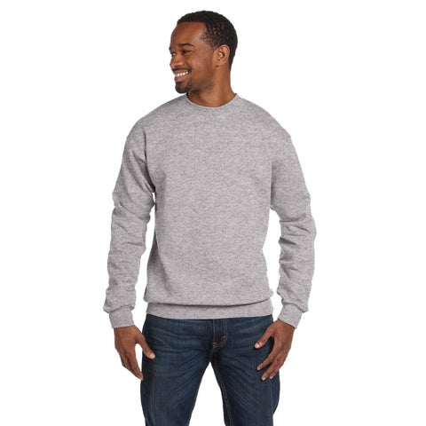 Hanes Men's Light Steel 50/50 Fleece Big and Tall Comfortblend Ecosmart Crew-neck Sweater