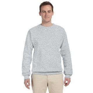 Men's Big and Tall 50/50 Nublend Fleece Ash Crew-neck Sweater