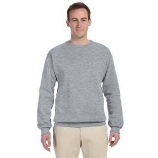 Men's Athletic Heather Grey 50/50 Nublend Fleece Big and Tall Crewneck Sweater