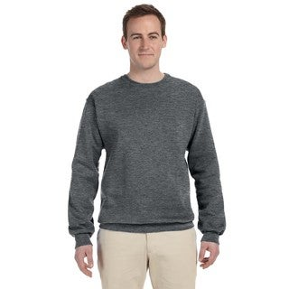 Men's Athletic Heather 70/30 Cotton/Polyester Big and Tall Crewneck Sweater