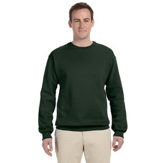 Men's Forest Green Supercotton 70/30 Fleece Big and Tall Crewneck Sweater