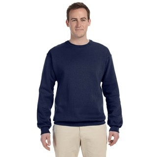 Men's J Navy Supercotton 70/30 Fleece Big and Tall Crewneck Sweater