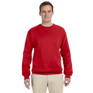 Men's True Red Supercotton 70/30 Fleece Big and Tall Crew-neck Sweater