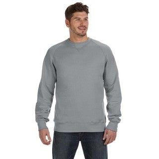 Hanes Men's Nano Vintage Grey Fleece Big and Tall Crew-neck Sweater
