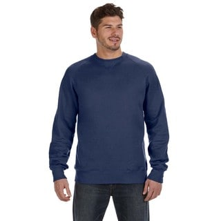 Hanes Men's Nano Big and Tall Navy Blue Cotton/Polyester Vintage Crewneck Sweater