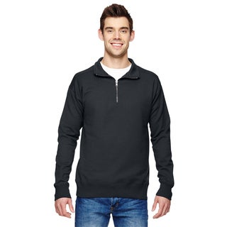 Hanes Men's Big and Tall Black Cotton-blended Vintage-style Sweater