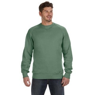 Hanes Men's Vintage Green Fleece Big and Tall Crew-neck Sweater