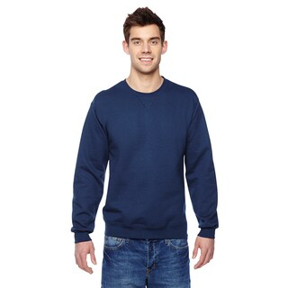Sofspun Men's Navy Big and Tall Crew-neck Sweatshirt