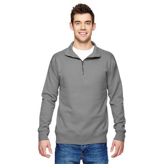 Quarter-Zip Men's Big and Tall Gray Vintage Sweater