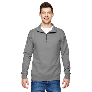 Quarter-Zip Men's Big and Tall Gray Vintage Sweater (2 options available)