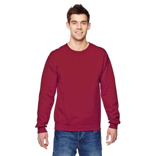 Men's Sofspun Cardinal Red Cotton/Polyester Big and Tall Crewneck Sweatshirt