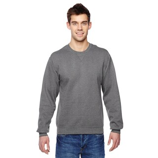 Sofspun Men's Charcoal Heather Big and Tall Crew-neck Sweatshirt