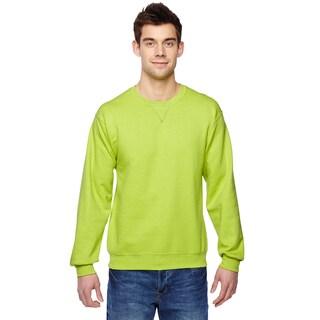 Men's Big and Tall Green Cotton-blended Sofspun Crewneck Sweatshirt