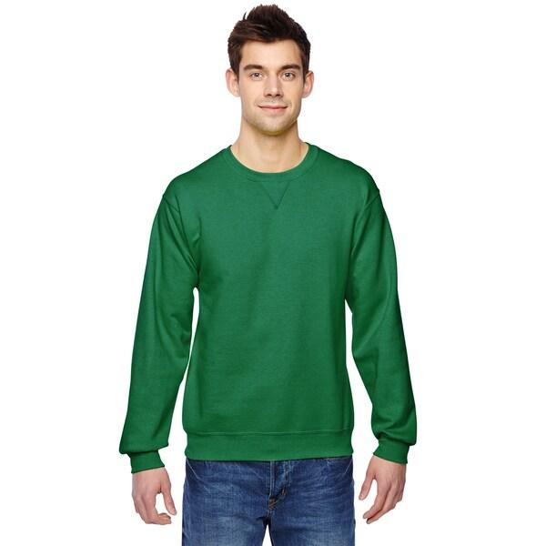 Sofspun Mens Clover Big and Tall Crew-neck Sweatshirt