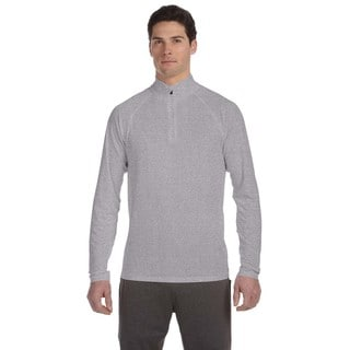 Men's Big and Tall Athletic Heather Polyester Lightweight Quarter-Zip Pullover Sweater