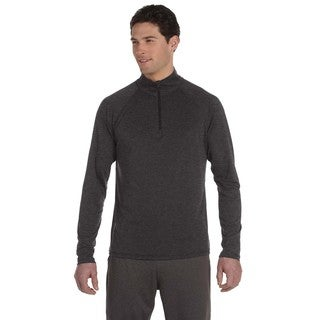 Men's Big and Tall Dark Grey Polyester Lightweight Pullover Sweater