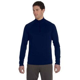 Men's Dark Navy Big and Tall Lightweight Quarter-zip Pullover Sweater