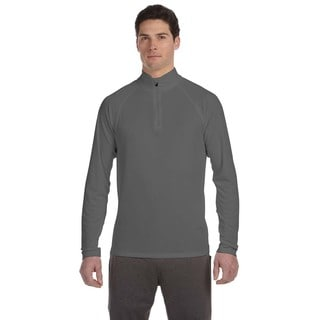 Men's Graphite Big and Tall Quarter-zip Lightweight Pullover Sweater