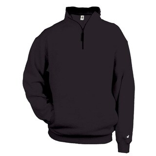 Men's Black Fleece Big and Tall 1/4-zip Pullover Sweater