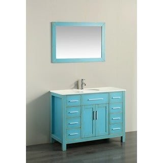 43'' Bosconi SB-252-7DSFGPS Contemporary Single Vanity
