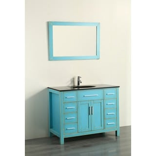 43'' Bosconi SB-252-7DSFGBG Contemporary Single Vanity