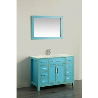 43'' Bosconi SB-252-7DSFGEWG Contemporary Single Vanity