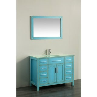 43'' Bosconi SB-252-7DSFGCWG Contemporary Single Vanity