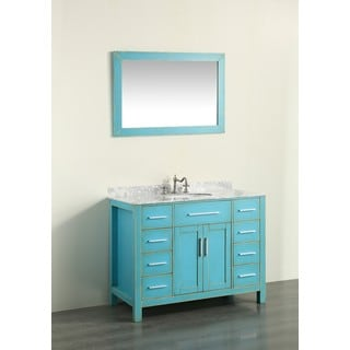 43'' Bosconi SB-252-7DSFGCM Contemporary Single Vanity