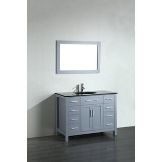 43'' Bosconi SB-252-7GRBG Contemporary Single Vanity