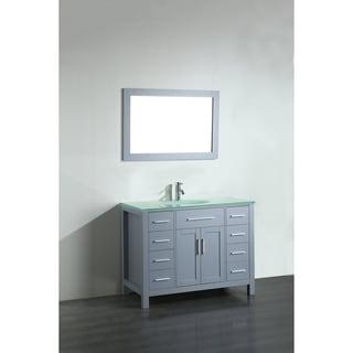 43'' Bosconi SB-252-7GRCWG Contemporary Single Vanity