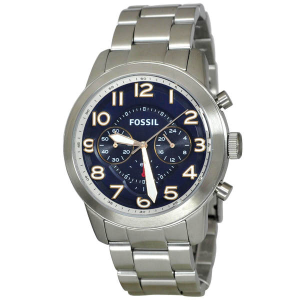 ad518650008 Shop Fossil Men s FS5203  Pilot 54  Chronograph Stainless Steel ...