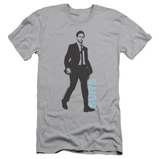 Suits/Walking Short Sleeve Adult T-Shirt 30/1 in Silver