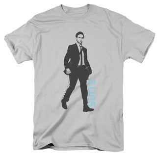 Suits/Walking Short Sleeve Adult T-Shirt 18/1 in Silver