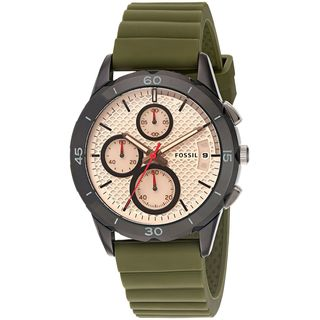 Fossil Women's ES4041 'Modern Pursuit' Chronograph Green Silicone Watch