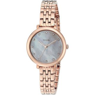 Fossil Women's ES4031 'Jacqueline Mini' Crystal Rose-Tone Stainless Steel Watch