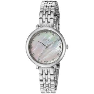 Fossil Women's ES4029 'Jacqueline Mini' Crystal Stainless Steel Watch