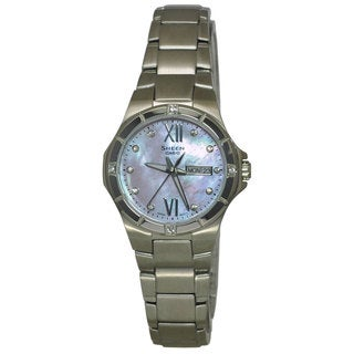 Casio Women's SHE4022D-4A Sheen Mother Of Pearl Watch