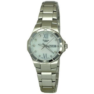 Casio Women's SHE4022D-7A Sheen Mother Of Pearl Watch (Option: Mother Of Pearl)
