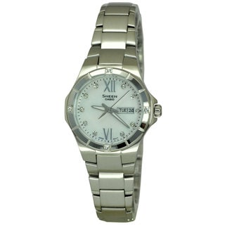 Casio Women's SHE4022D-7A Sheen Mother Of Pearl Watch