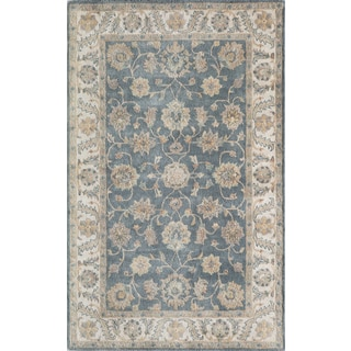 Hand- Tufted Rowen Blue Wool Rug (8' x 11')