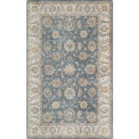 Momeni Tudor Blue Hand-Tufted Wool Rug (8' X 11')