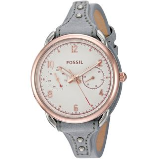 Fossil Women's ES4048 'Tailor' Multi-Function Grey Leather Watch