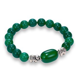 Jade elephant bracelet