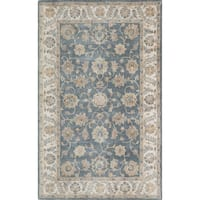 Momeni Tudor Blue Hand-Tufted Wool Rug - 5' x 7'6""