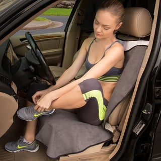 OxGord Black/Grey Post-workout Sweat Towel Car Seat Cover