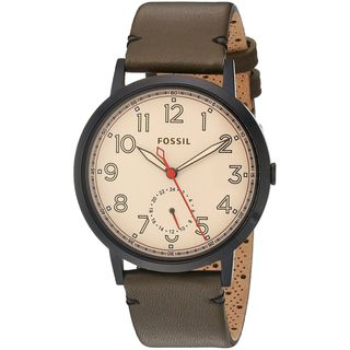 Fossil Women's ES4058 'Everyday Muse' Multi-Function Brown Leather Watch