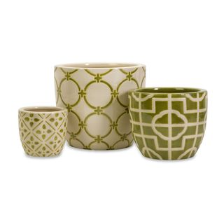 Lattice Containers - Set of 3