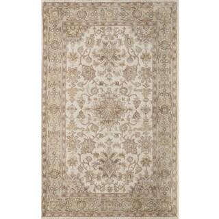 Hand- Tufted Greer Beige Wool Rug (8' x 11')