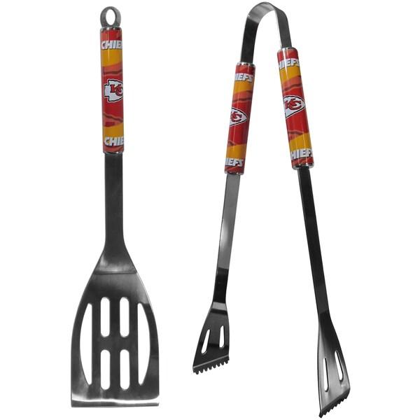 NFL Kansas City Chiefs Steel 2-piece Barbecue Tool Set