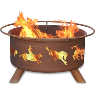 "Patina Products F104 24"" Steel Western Fire Pit"